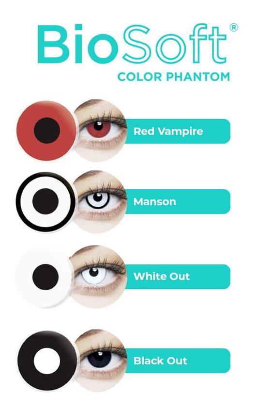 lentes de contato coloridas halloween desenhos especiais