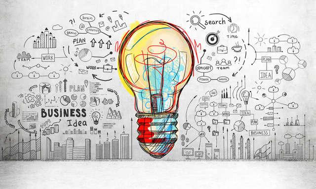 ilustração sobre inovação e serviço de qualidade na sua ótica