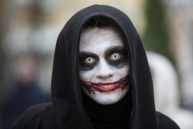 lente de contato halloween